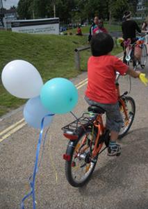 Balloons on Bike