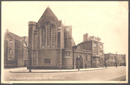 English Martyrs Church c.1922 with the kind permission of the Southwark Local History Library & Archivee