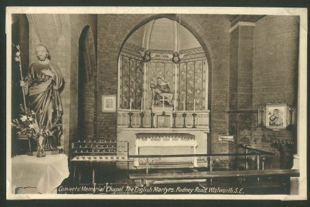 English Martyrs Church c1922 with kind permission of the Southwark Local History Library & Archive
