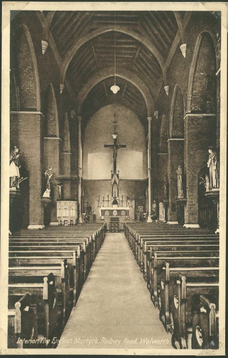 English Martyrs Church c1922 with the kind permission of the Southwark Local History Library & Archive