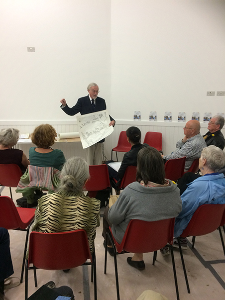 Southwark Historian Stephen Humphrey speaking at English Martyrs Church Hall 2015