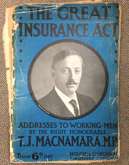 Political Pamphlet showing Dr Macnamara, Liberal MP for North Camberwell, one of the presidents of the club. With the kind permission of the Southwark Local History Library and Archive