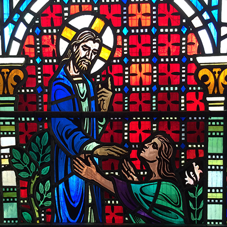 Original Stained Glass Window from St Mark's Camberwell, New Peckham Mosque 2016