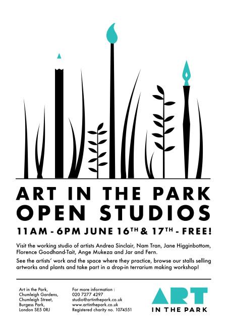 Art in the Park - Open Studios - June 2018 A4